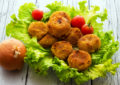 Croquettes onion and cherry tomatoes
