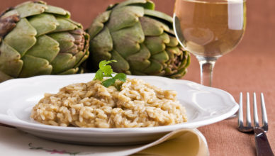 risotto with artichoke cream